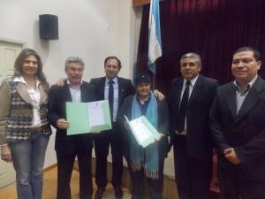 Concejales junto a Silvia Pacheo y Daniel Andrada