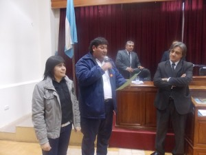 Pague y miembros del ctro vecinal Marcos Avellaneda